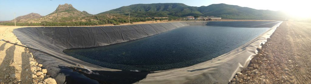 geg impermeabilizzazioni laghetti artificiali polietilene hdpe in Sardegna